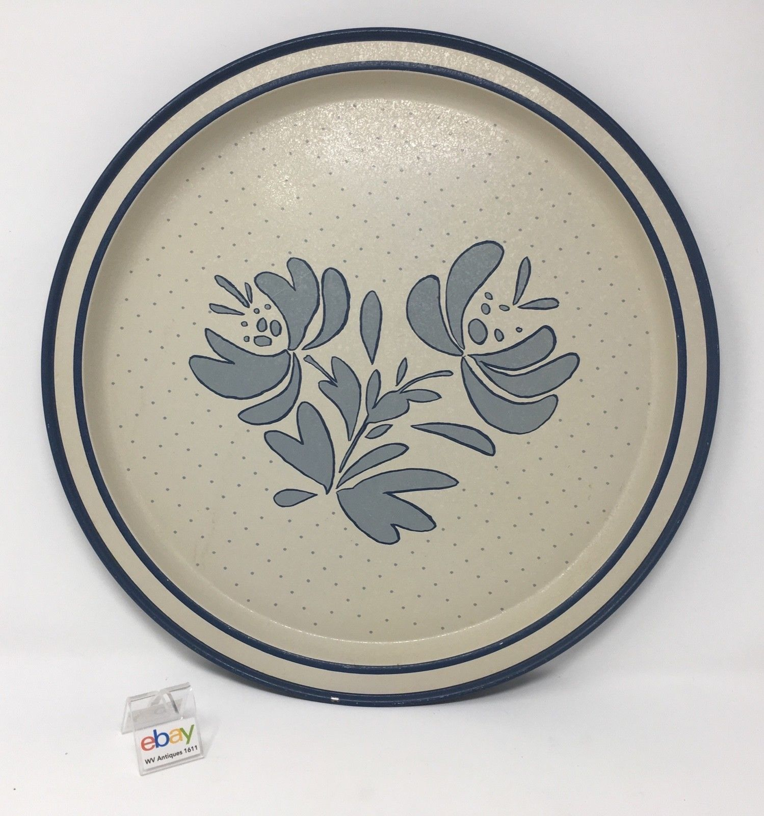 "Primary image for Pfaltzgraff ""Yorktowne"" Serving Tin / Metal Tray -1985 - 13 5/8"" Diameter"