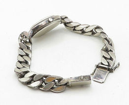 GERMANY 925 Silver - Vintage Watch Curb Link Chain Bracelet - B5145 image 4