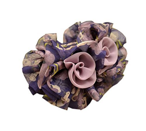 Primary image for Graceful Chiffon Flower Hair Claw Clip Hair Accessories for Womens Girls, Lavend