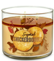 Bath & Body Works Sugared Snickerdoodle Three Wick.14.5 Ounces Scented C... - $22.49