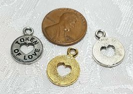 TOKEN OF LOVE FINE PEWTER PENDANT CHARM - 12.5x17x1.5mm image 3