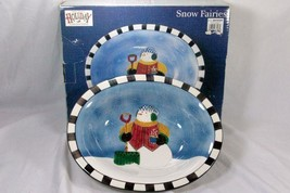 "Sakura 2001 Snow Fairies Oval Serving Bowl 14"" - $29.79"