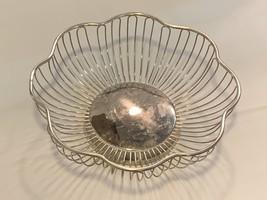 Silver Plated Flower Shape Fruit / Bread Bowl - $99.99