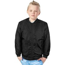 vkwear Boy's Kids Juniors Water Resistant Padded Zip Up Flight Bomber Jacket (M