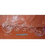 6 Assorted Glass Succulent Bird Feeder Craft Hanging Vase Multi Purpose ... - $34.64