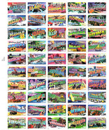 Greetings from America Stamps Full Pane MINT 34c Sealed Pkg Travel USA S... - $29.65
