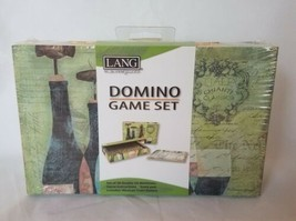 Lang Bottles & Glasses Domino Game Set Mexican Train Station New - $19.79