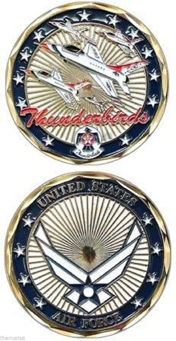 AIR FORCE THUNDERBIRDS MILITARY JET CHALLENGE COIN