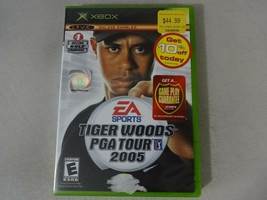 Tiger Woods PGA 2005 Original Microsoft Xbox Game Complete Free Ship - $11.87