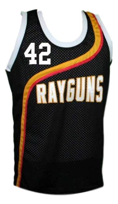Jerry stackhouse  42 roswell rayguns basketball jersey black   1
