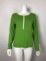 TALBOTS Sweater, Soft Green/Ivory Sz M Medium Lambswool Blend NWT New - $21.21