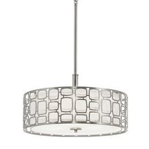 Kichler Lighting Sabine 17.99-in W Brushed Nickel Pendant Light with Fabric Shad - $191.94