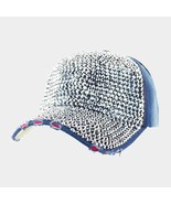 Blue Bling Distressed Destroyed Denim Baseball Cap 331572 - $20.75