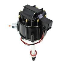 SBC BBC Chevy 305 327 350 383 396 454 V8 HEI Coil Distributor Black Cap 50k Volt