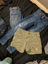 Calvin Klein Jeans size 2 Old Navy Jeans size 2 Army green shorts - $13.86