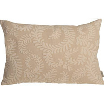 Pillow Decor - Brackendale Ferns Cream Rectangular Throw Pillow - $49.95