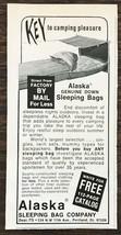 1967 Alaska Sleeping Bag Company Portland OR Print Ad Key to Camping Ple... - $7.15