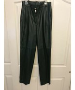 Begedor Italia Green Genuine Buttery Soft Leather Pants Sz 24 x 29 Made ... - $59.36