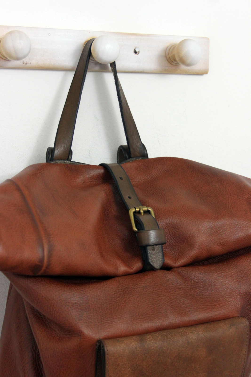 ROLL BACKPACK handmade leather & canvas backpack image 6
