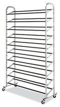 10 Tier Wheeled Shoe Footwear Rack Shelf Shelves Organizer Storage Stand... - $62.94