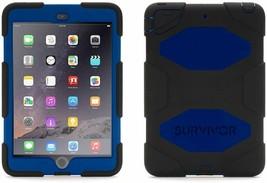 Griffin Survivor All-Terrain Case + Stand for iPad Mini 1/2/3, Blue & Black - $26.72