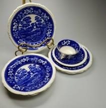 Antique Coplande Spode Blue Tower Tablewear Lot Of 7 Pieces  - $74.99