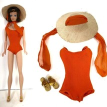 Barbie In The Swim 1962 Midge Clothing Accessory Lot Bubble Cut Brunette Japan - $123.72