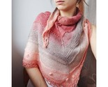 Multicolored knitted lace wool shawl, Russian style bridal shawl, Shoulder cape - £30.53 GBP