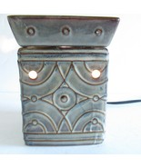 Scentsy Full Size Wax Warmer Green Lenox Light Up Working Bulb - $37.39