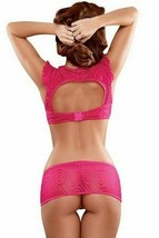 MAGIC SILK NEON CAP SLEEVE TOP SKIRT & G-STRING SET - $23.99