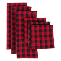 DII CAMZ10628 Cotton Plaid Kitchen (Red and Black|Dishtowel & Dishcloth ... - $23.70