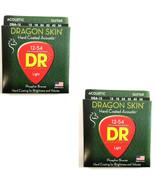DR Guitar Strings 2-Pack Acoustic Dragon Skins 12-54 Light - $23.16