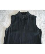 100% Linen Finity Black Linen Maxi Sleeveless Dress Size 6 Popover Hi Fr... - $49.49