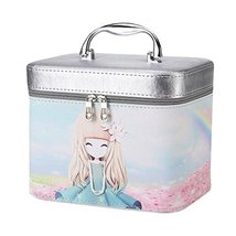 Cosmetics Case Makeup Train Case Cosmetics Organizer Beauty Bag -A1 - $36.44