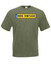1995 Vintage Number Plate Birthday Graphic Quality t-shirt tee mens unisex - $13.44