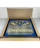"Lowenbrau Beer Wood Framed Beer Mirror Bar Sign 26""x22"" NEW NOS Vintage ... - $111.11"