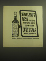 1959 Cutty Sark Scotch Ad - Scotland's best distilleries produce this qu... - $14.99