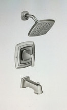 Moen Hensley Single Handle 1 Spray Tub & Shower Faucet Brushed Nickel - $115.83