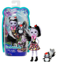 """Enchantimals Sage Skunk & Caper 6"""" Doll New in Package - $11.88"""