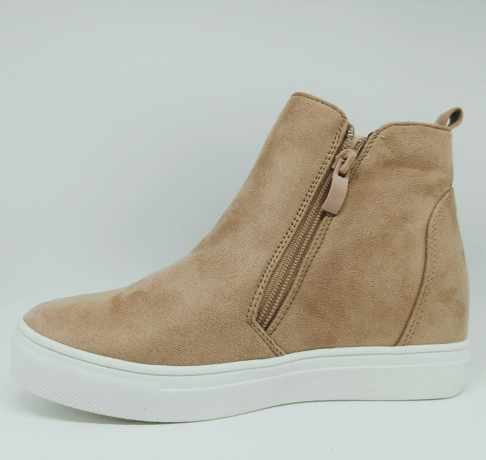 LaSheelah Taupe wedge sneakers