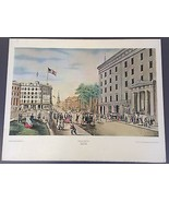 Currier & Ives 'Broadway, New York' Lithograph Shorewood Publishers  - $24.65