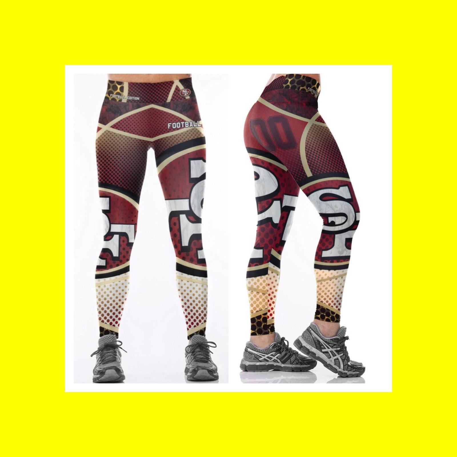 finest selection 065bd 76e3e 49ERS Leggings - Women Fan Gear - NFL San and 13 similar items