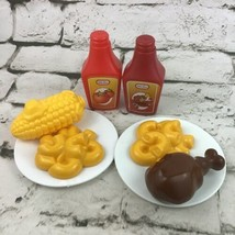 Little Tikes Pretend Play Food 8Pc Lot Ketchup BBQ Sauce Max N Cheese Pl... - $29.69
