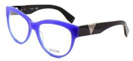 GUESS GU2574 090 Women's Eyeglasses Frames Plastic 54-17-140 Blue + CASE - $56.80