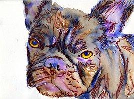 Purple French Bulldog Wall Art Print, Grumpy French Bulldog, French Bull... - $403,58 MXN