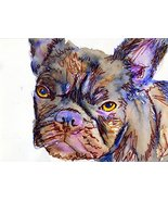 Purple French Bulldog Wall Art Print, Grumpy French Bulldog, French Bull... - $406,17 MXN
