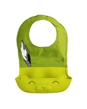 Faddish Showerproof Comfortable Baby Bib/Pinafore for Baby, Green