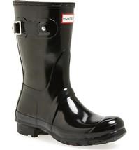 HUNTER ORIGINAL SHORT GLOSS BLACK WELLINGTON BOOTS Welly Short Black Wel... - $2.103,53 MXN
