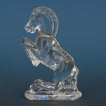 Vintage Smith Glass Miniature Crystal Horse Rearing image 2