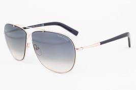 Tom Ford April Black Gold / Gray Gradient Aviator Sunglasses TF393 28P - $171.50